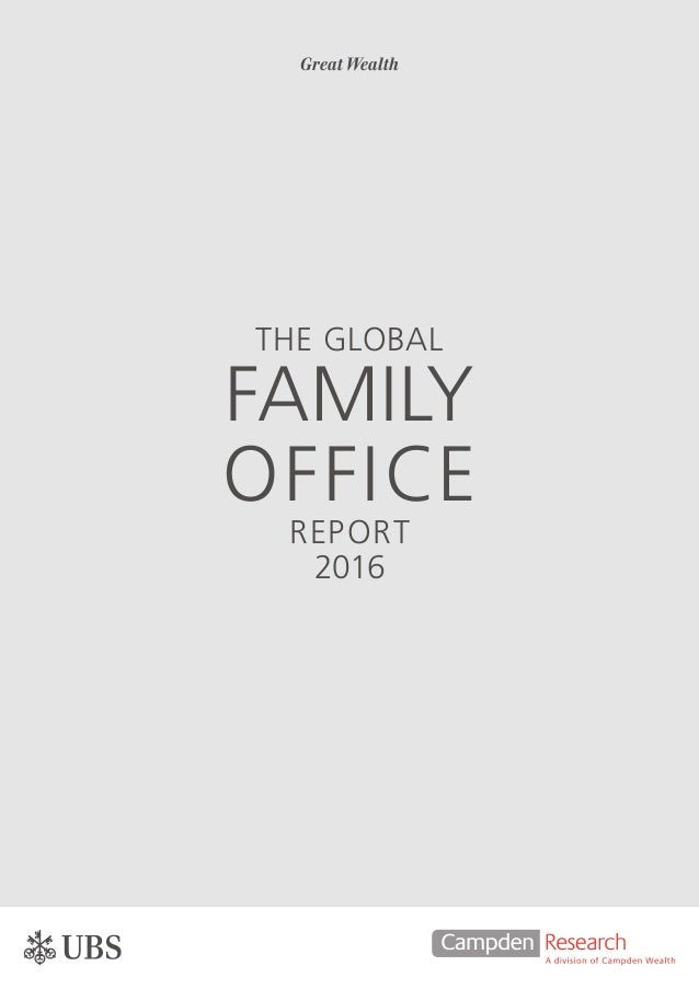Global family office report 2016 for Home office switzerland