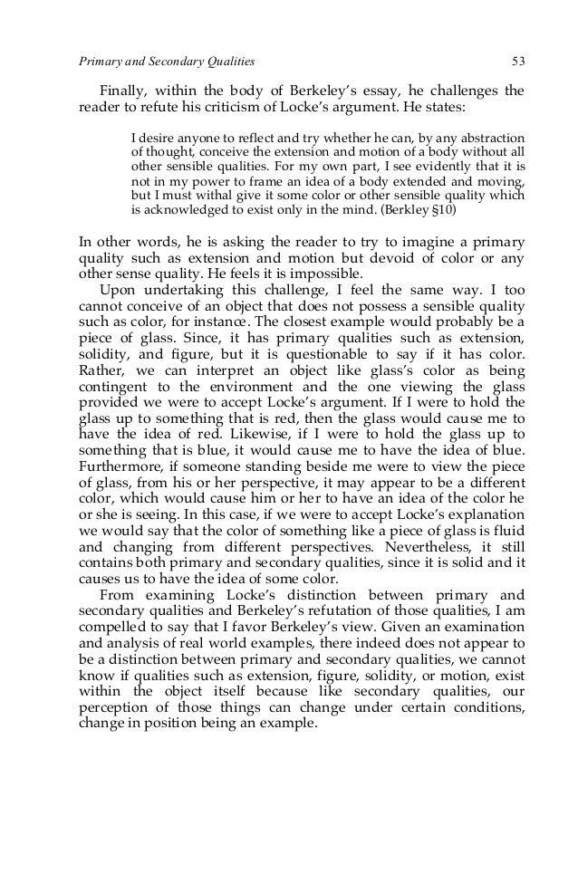 berkeley criticism of locke