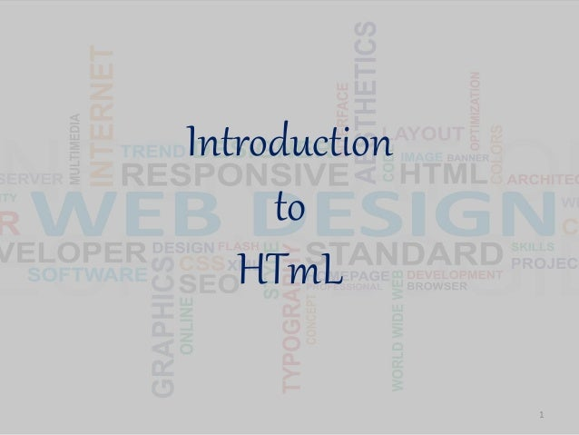 Introduction to HTmL 1