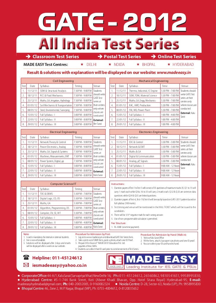2012                     All India Test Series              Classroom Test Series                                         ...