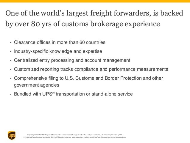 UPS Air and Ocean freight capabilities customer deck