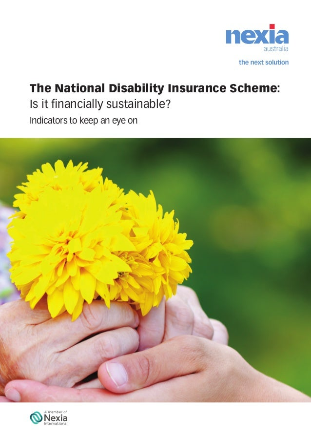 The National Disability Insurance Scheme: Is it financially sustainable? Indicators to keep an eye on