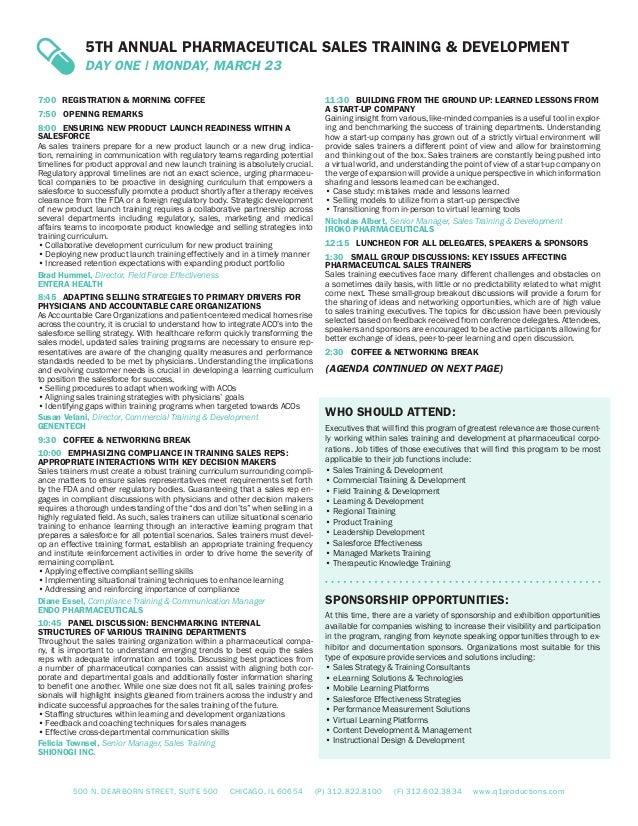 pharmacutical sales training