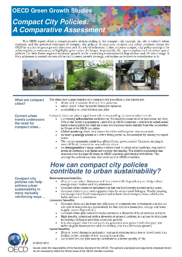 Compact City Policies - A Comparative Assessment (policy brief)