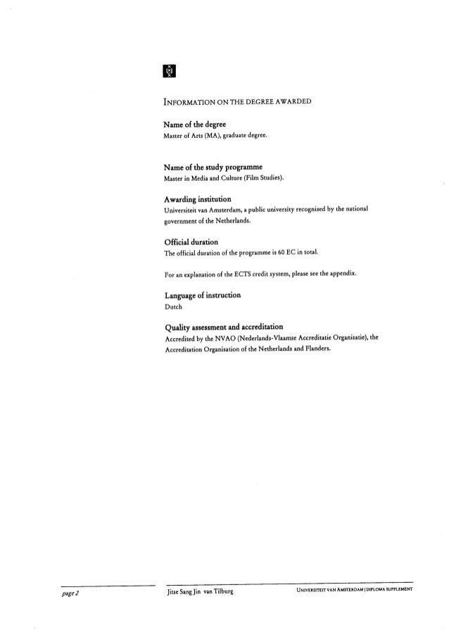 master diploma pdf  diploma supplement 3