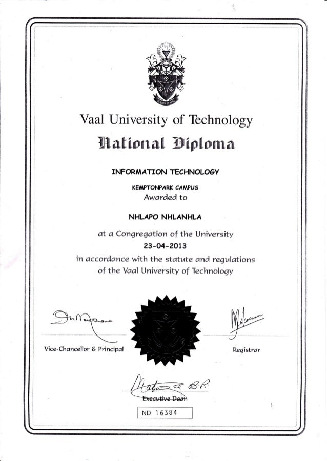 Image Result For Vaal University Of Technology Diploma Courses