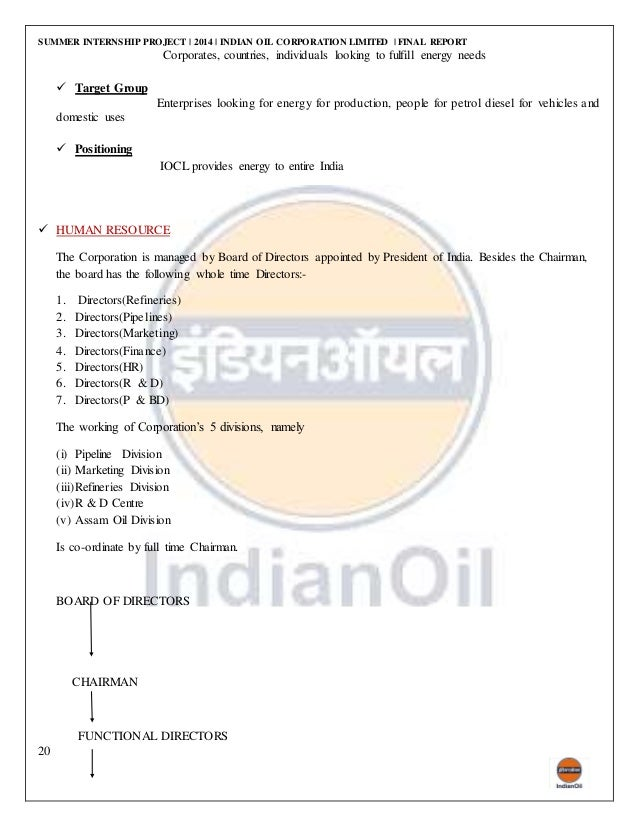 indian oil summer traning project report for marketing Showing results 584 for summer internship project report for logistics mba  internships opportunity with a training company monthly  part time, summer .