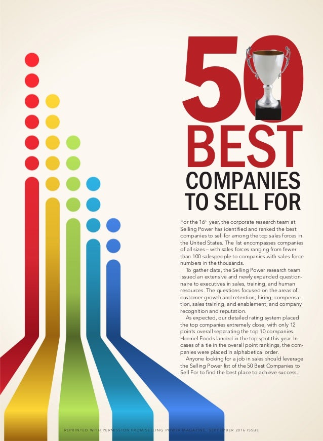 G&K Services Named one of Best Companies to Sell For by Selling Power Magazine Slide 2