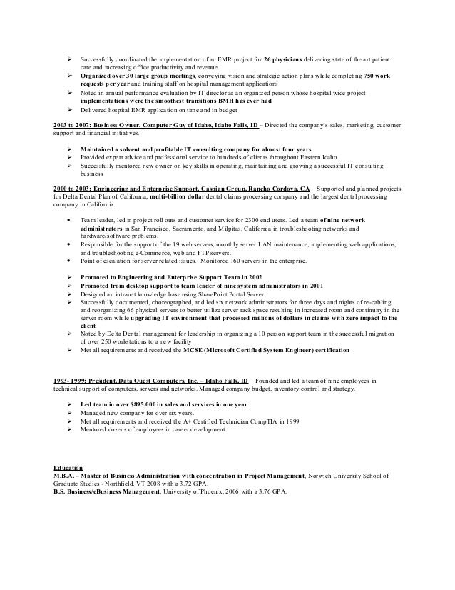 paul wallace pmi certified agile resume