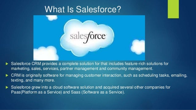 Introduction To Salesforce Ppt