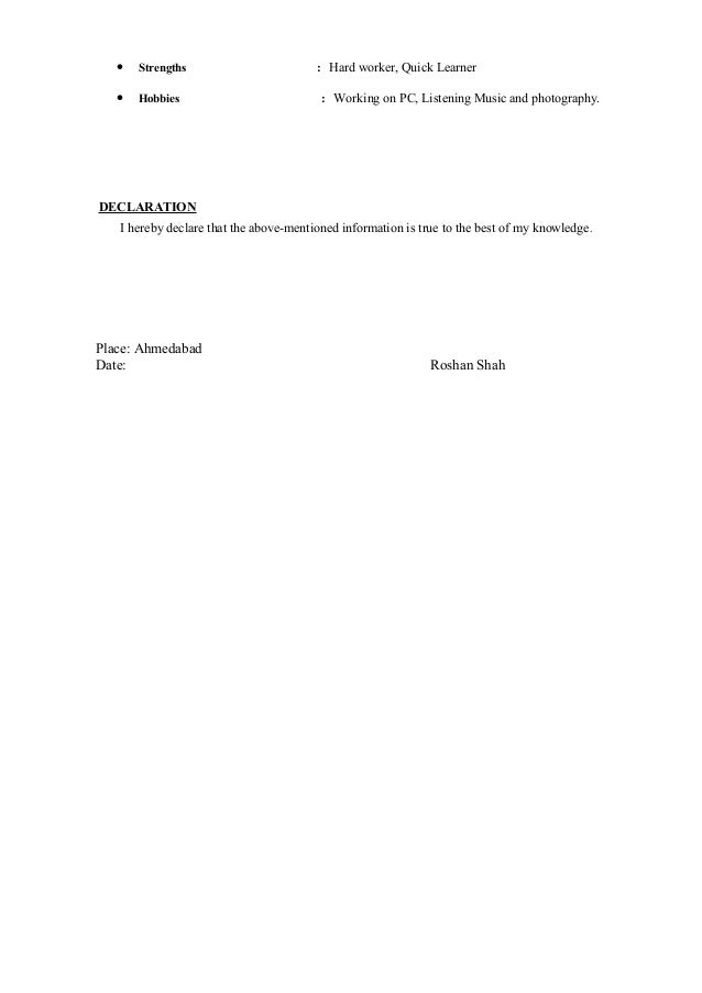 resume roshan