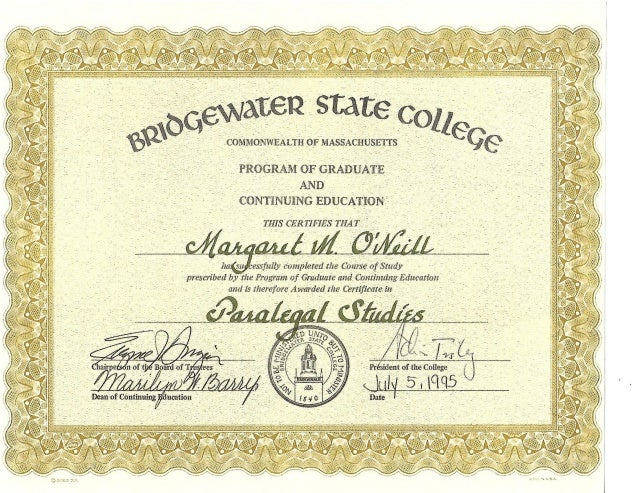 Bsu Certificate In Paralegal Studies
