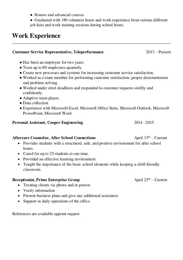 Resume Amp Cover Letter Together