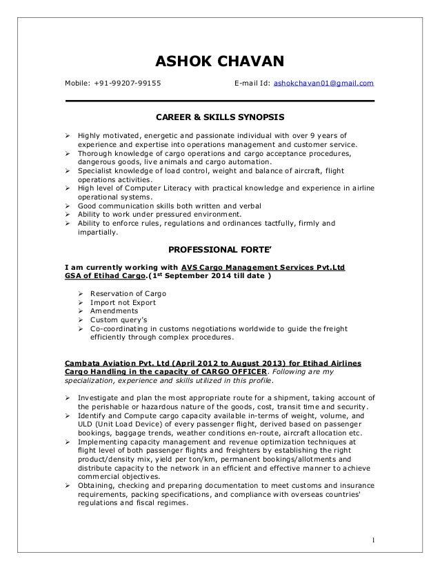 resume - ashok chavan