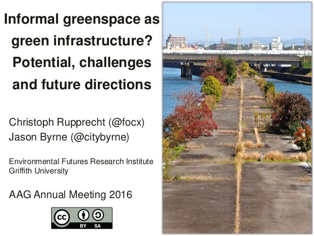 Informal greenspace as green infrastructure? Potential, challenges and future directions Christoph Rupprecht (@focx) Jason...