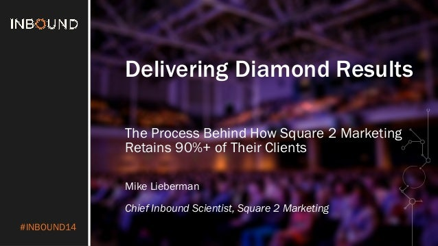 #INBOUND14  Delivering Diamond Results  The Process Behind How Square 2 Marketing  Retains 90%+ of Their Clients  Mike Lie...