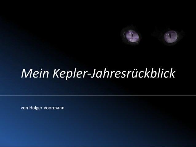 Mein Eclipse-Kepler-Jahresrückblick