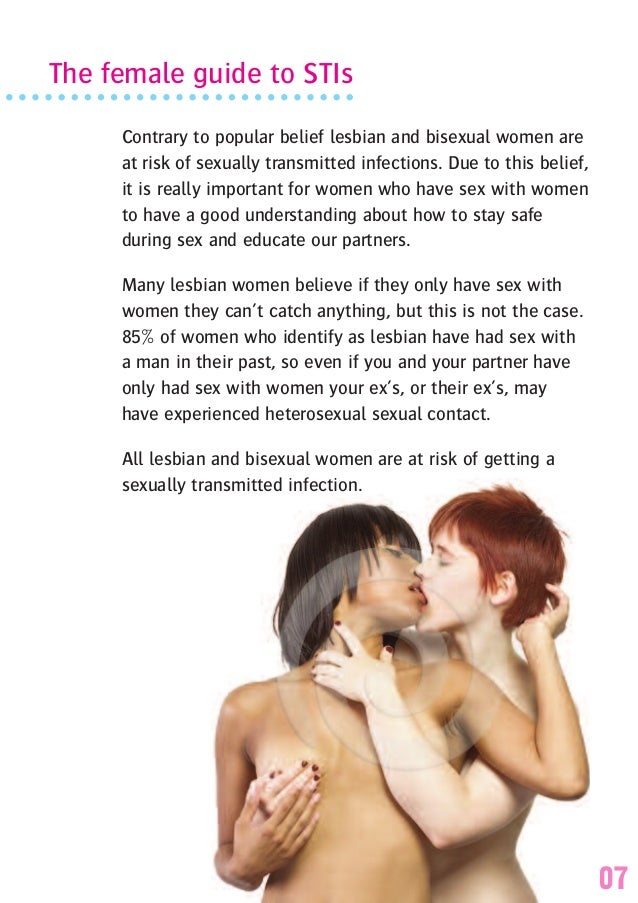 Bisexual female safe sex