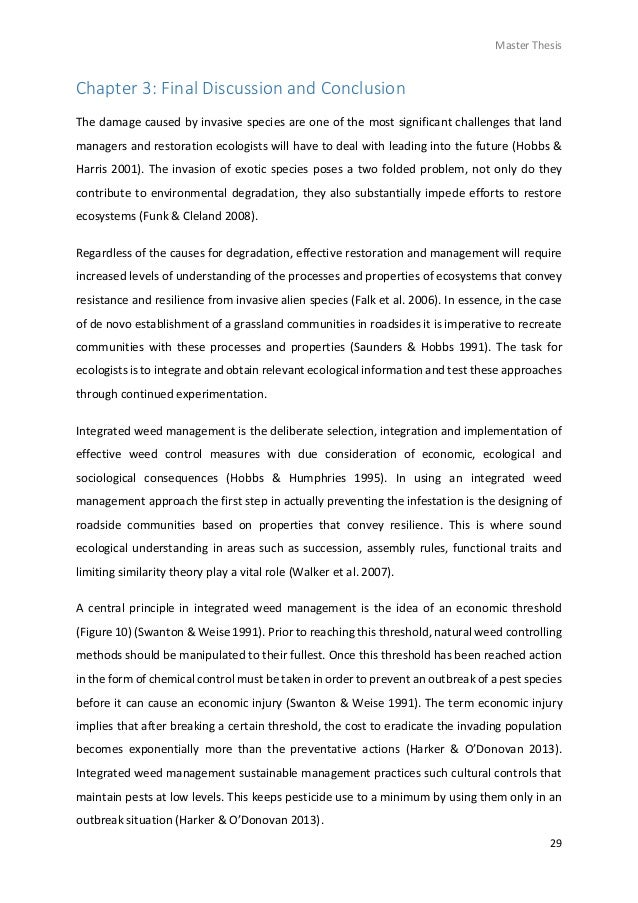 write conclusion chapter phd thesis