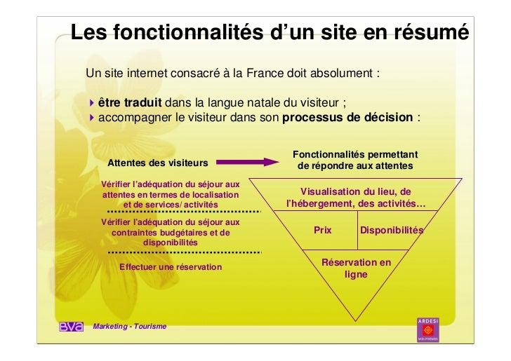 Les fonctionnalités d'un site en résumé Un site internet consacré à la France doit absolument :   être traduit dans la lan...