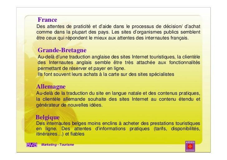 FranceDes attentes de praticité et d'aide dans le processus de décision/ d'achatcomme dans la plupart des pays. Les sites ...