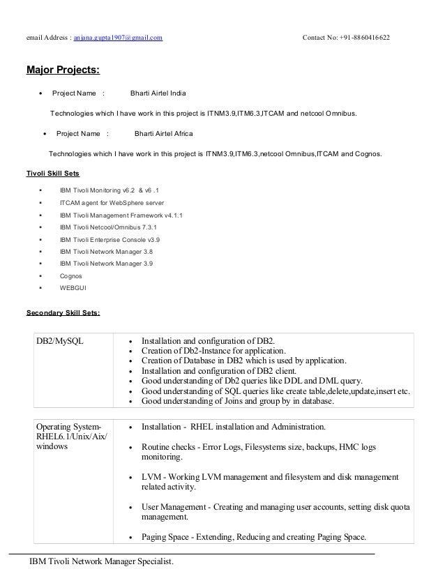 Tivoli monitoring resume
