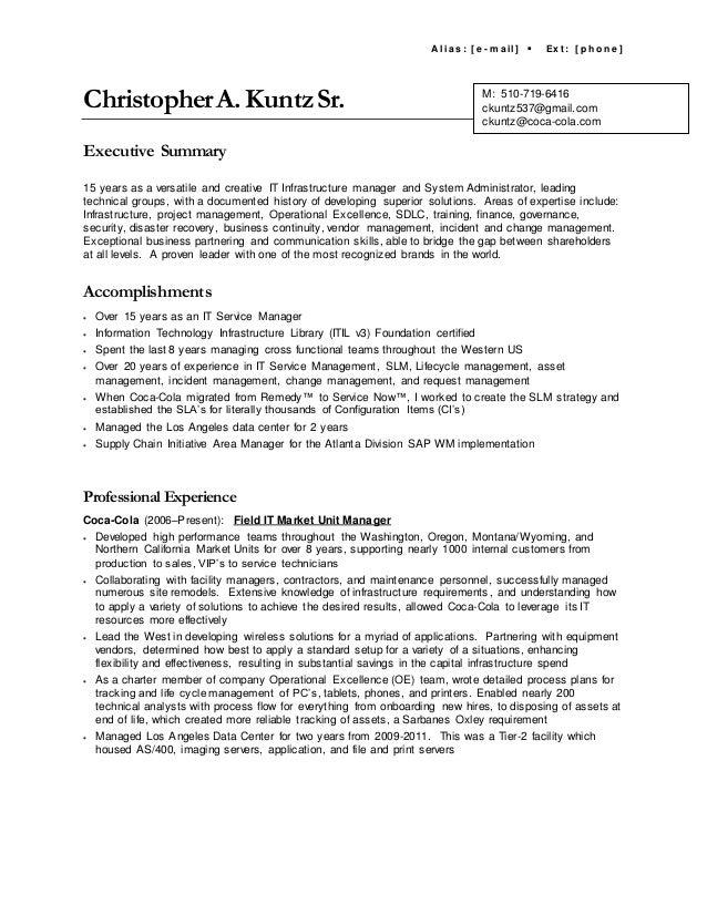 generic resume summary - Acur.lunamedia.co