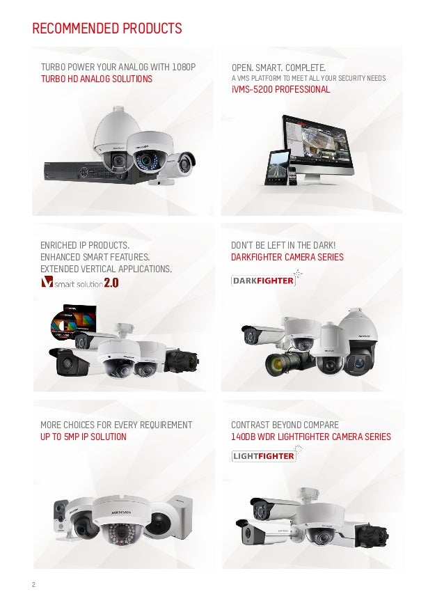HIKVISION Quarterly Featured Products 2016Q2