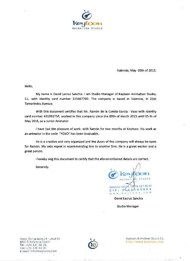 carta de recomendaci u00f3n ram u00f3n  english