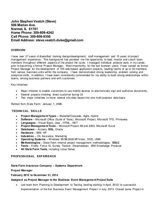 steve veatch resume feb 2015