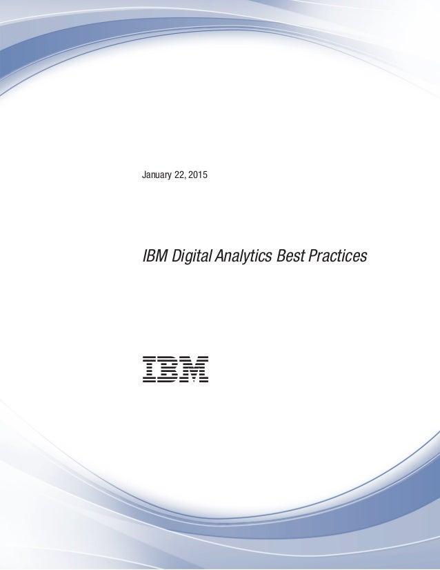 January 22, 2015 IBM Digital Analytics Best Practices