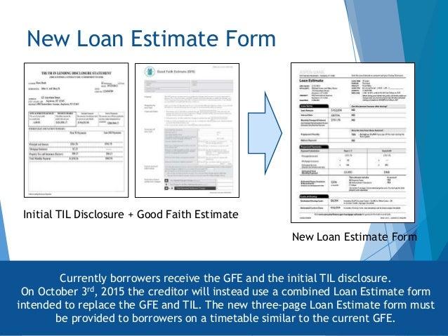 good faith estimate forms