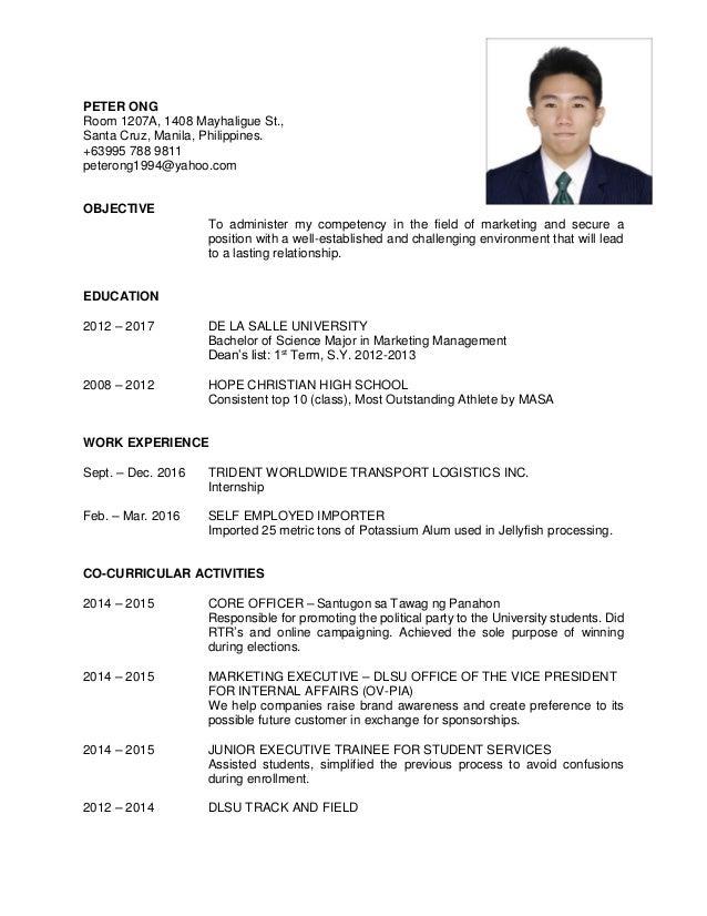 Dlsu edu ph resume
