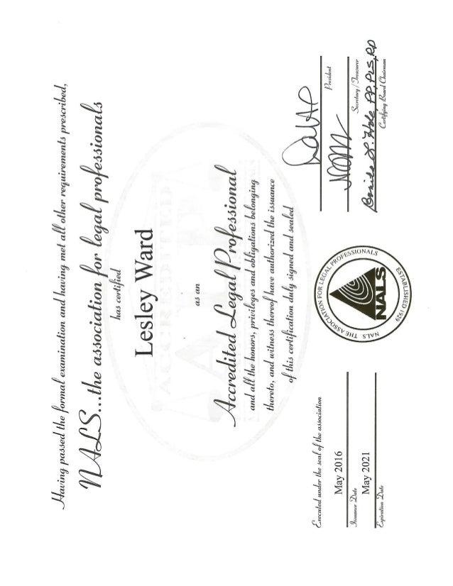 Nals Certificate2016