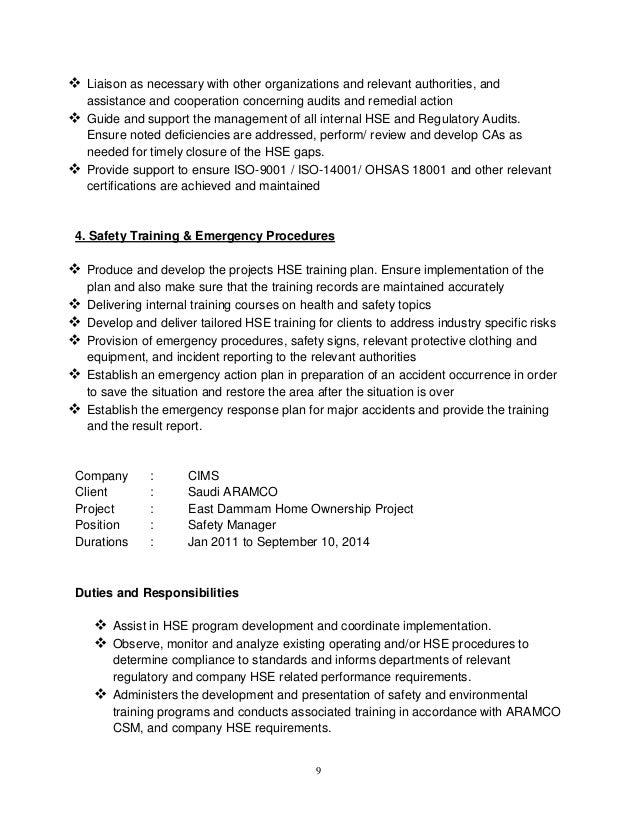 sadiq mehmood safety manager 05 09 011 mq rh slideshare net saudi aramco construction safety manual 2011 pdf Construction Site Safety Manual