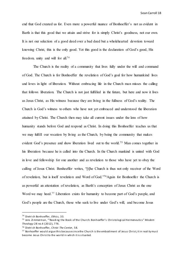 sean carroll final essay for christology 19