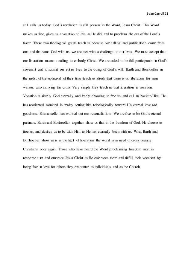 sean carroll final essay for christology 22