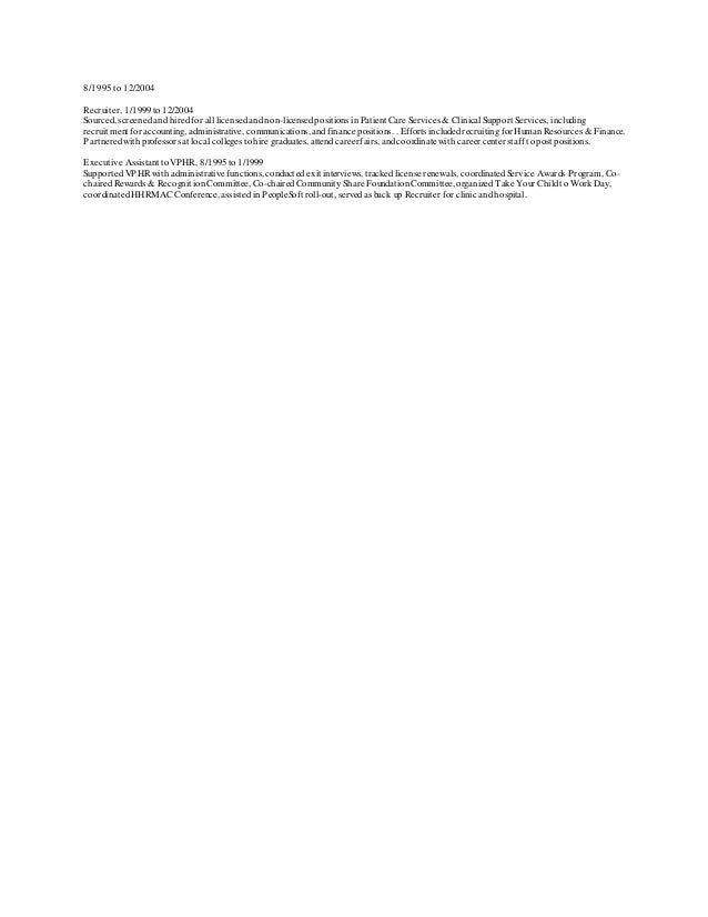 resume of tracy viereck recruiter 2015 for linked in