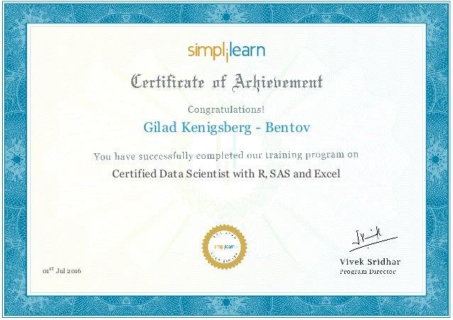 data science certification scientist slideshare certified upcoming gilad bentov kenigsberg