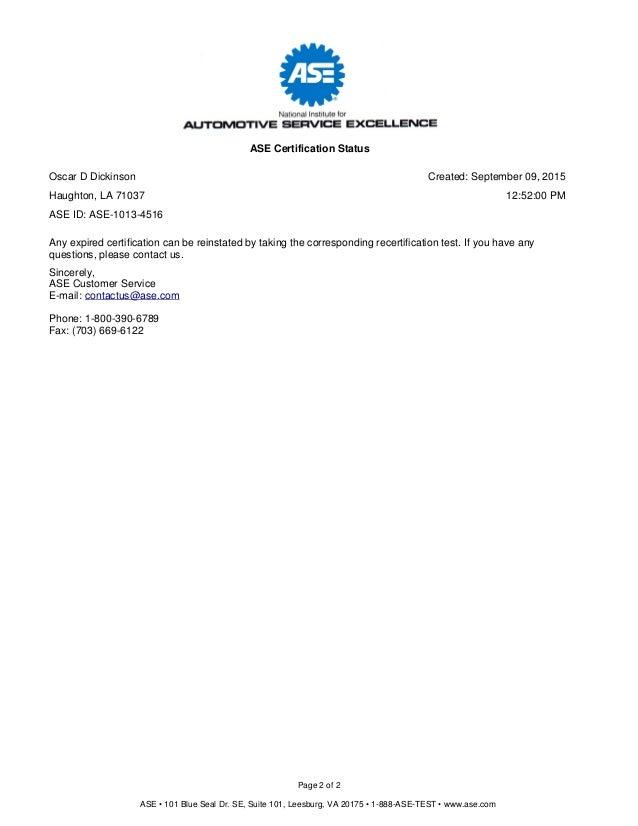 Certification Status 7