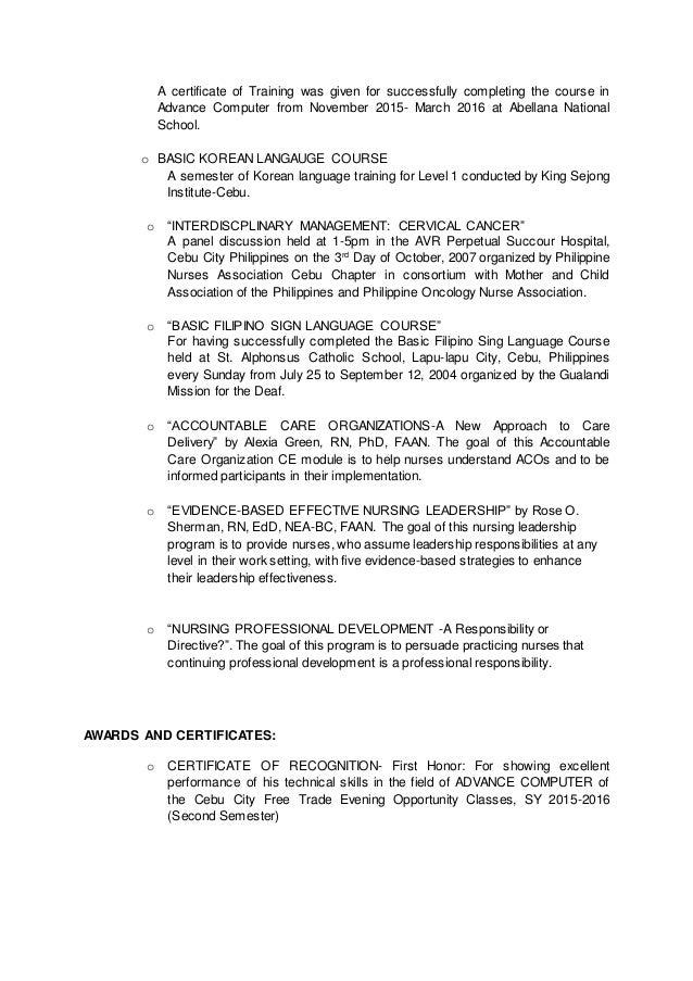 jorge pawee duran resume - Nursing Professional Resume