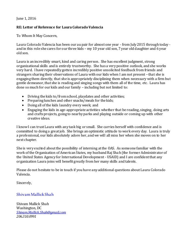 june 1 2016 re letter of reference for laura colorado valencia to whom it
