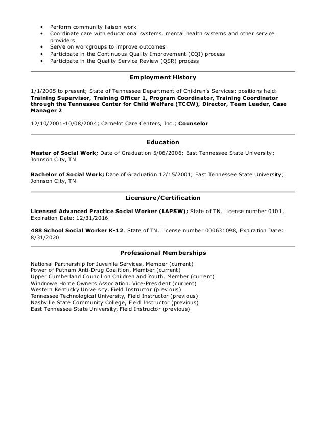 anna richmond lapsw training resume