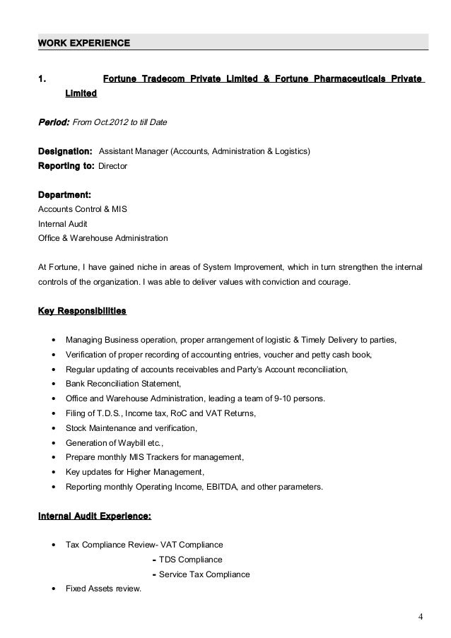 Amit cv ca inter with cover letter work experience 1 yelopaper Gallery