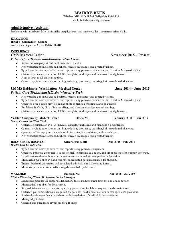 bea s new resume