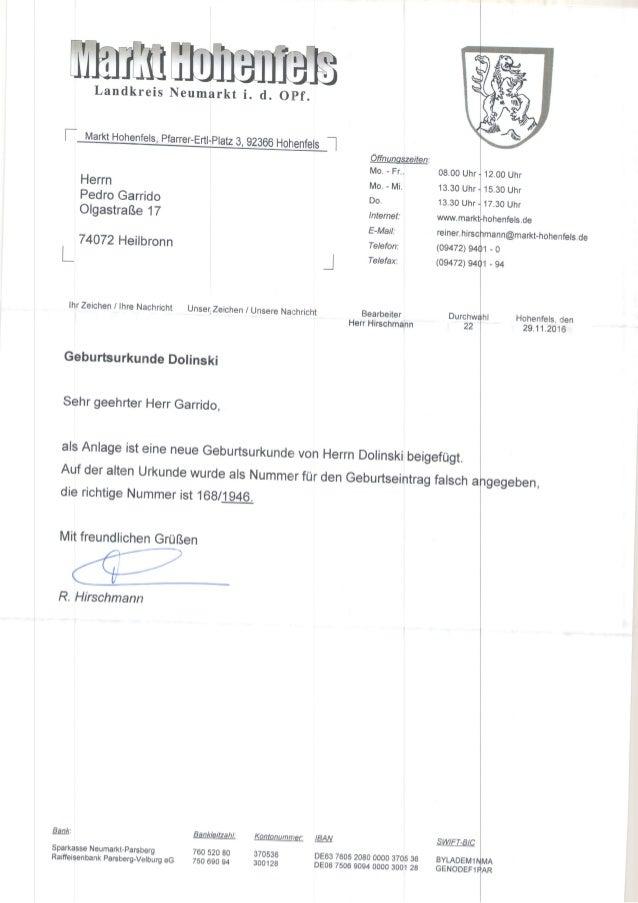 Landkreis r Herrn Pedro Garrido Ofgastra&e 17 | 74072 Heilbronn Óffnunoszeiten: Mo. - Fr.. Mo. - Mi. Do. lnternet: E-Mail:...