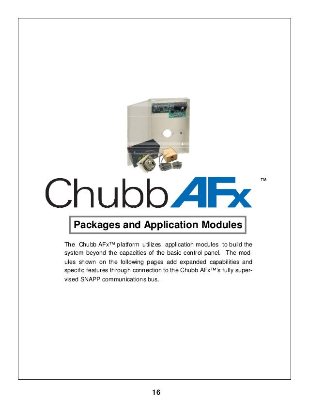 Chubb AFx System Design Guide June 2009