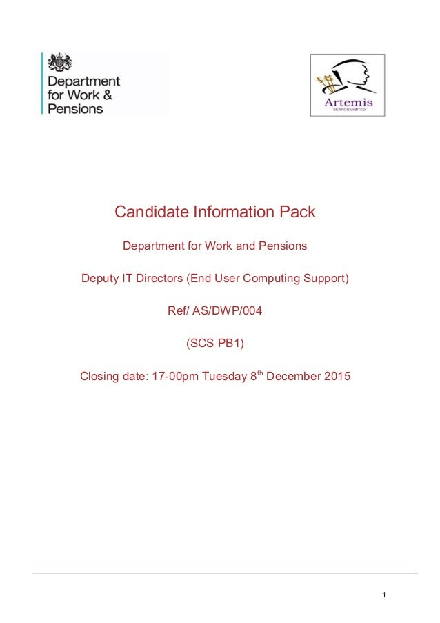 DWP Candidate Pack Final