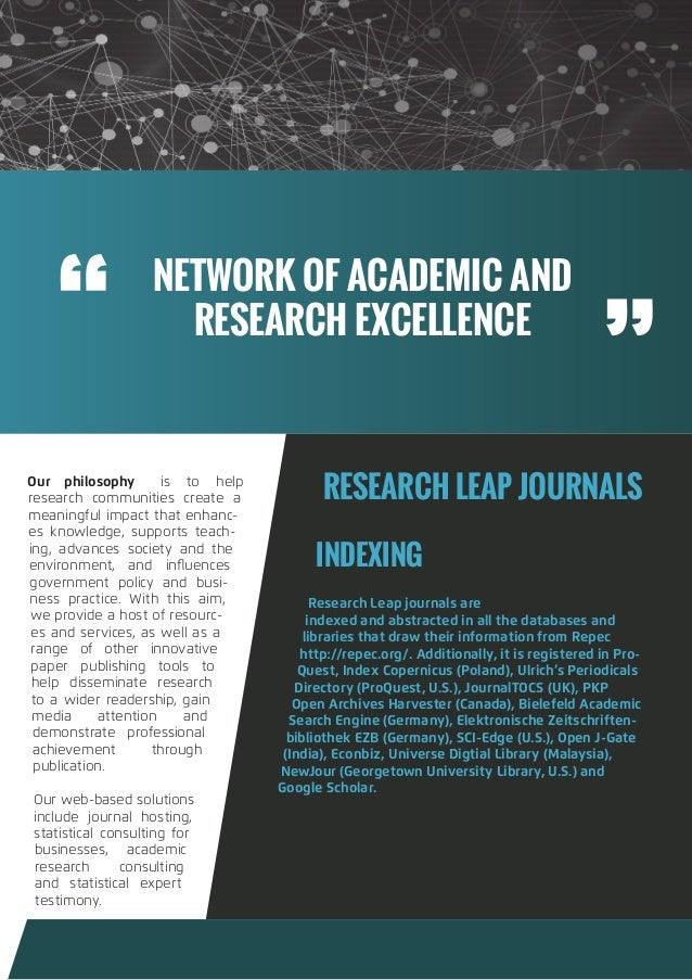 Call For Research Papers - January 2019