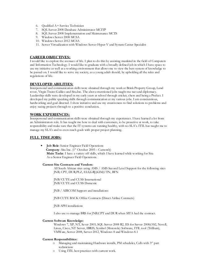 resume of dhesigan reddy hyperv2012